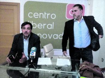 Juan Ignacio López-Bas y Pedro Mancebo en la sede de CLR hace solo unas semanas. / FOTO J. Fernández